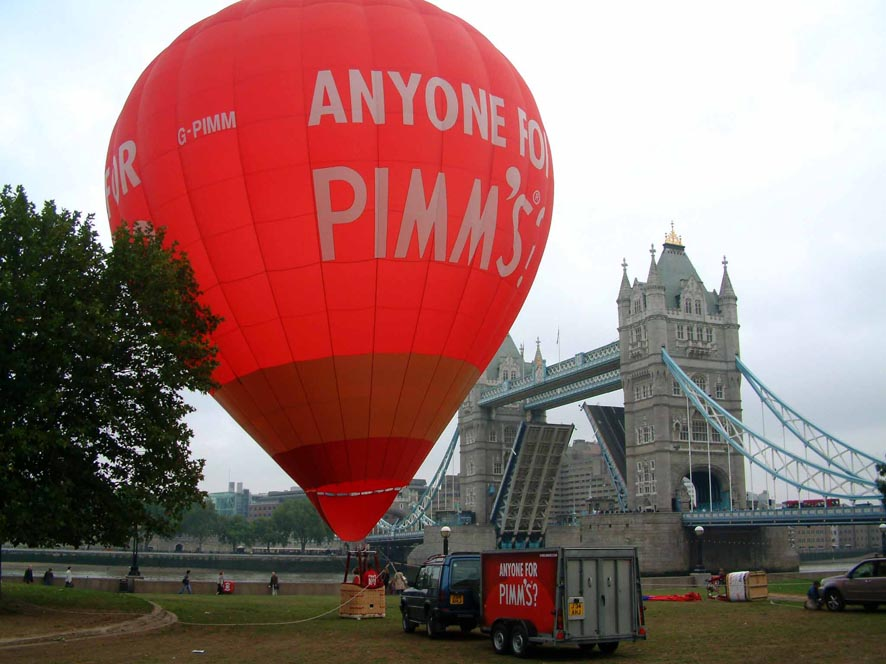 pimms hot air balloon