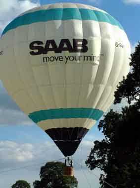 saab hot air balloon banner