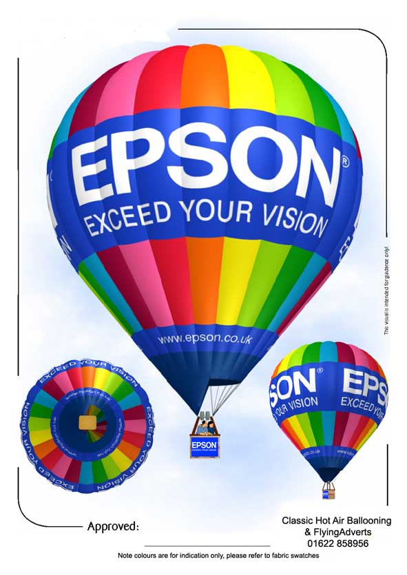 epson visual 3D graphic mockup
