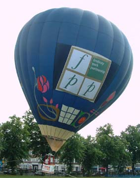 london council hot air balloon banner