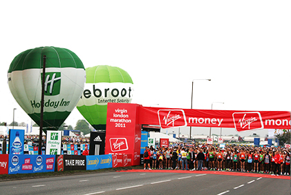 london marathon balloons